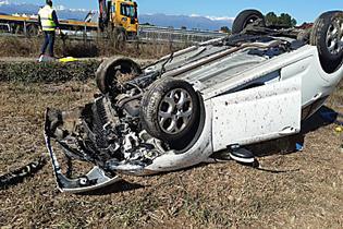 Incidente sull'autostrada A5, ferite un'aostana e la figlia di 5 anni