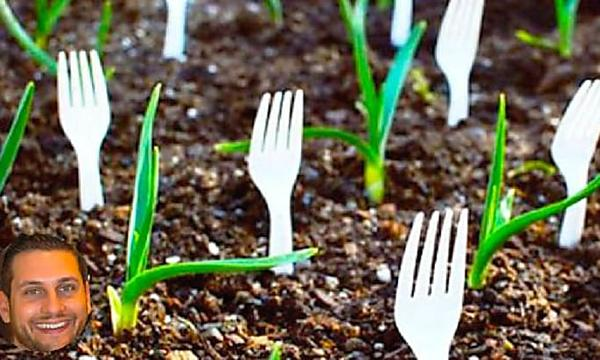 Put Forks All Around Your Garden, Here's Why