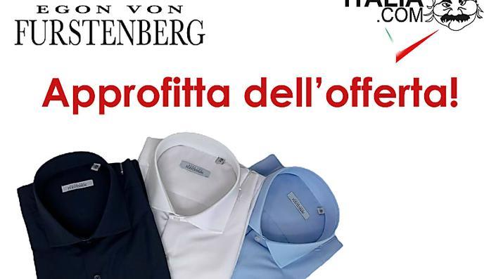 Camicia Egon Von Furstenberg da uomo 100% cotone!