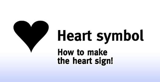 Heart sign: How to make the heart symbol!