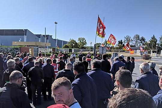 Ingrandes-sur-Vienne : débrayage aux Fonderies du Poitou après l'annonce de mesures de chômage partiel