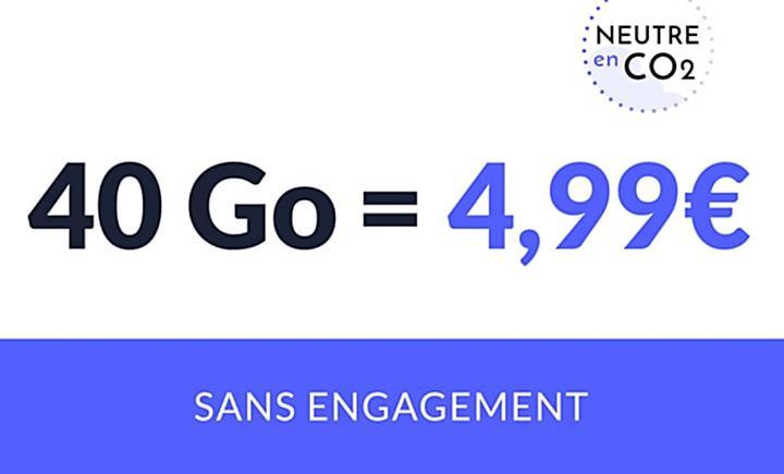 Forfait mobile 40Go à 4,99€ : une belle enveloppe data pour un petit prix !