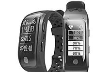 Relógio Inteligente com GPS Integrado para acompanhar suas corridas, Prova D'água, Monitor Cardíaco funciona com IOS e Android