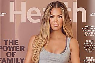Khloe Kardashian Looks Ripped In Crop Top & Biker Shorts On 'Health' Magazine Cover