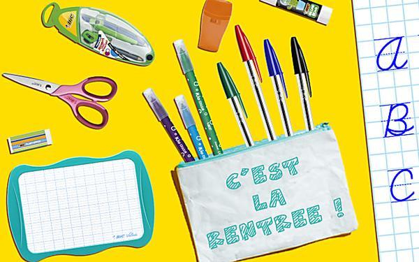 Pour la rentrée des classes découvrez les kits de rentrée sur BIC.com