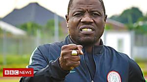 Nigerian football coach filmed taking cash