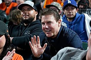 Tom Cruise Makes Rare Appearance With Son Connor, 26, At Baseball Game — Photos