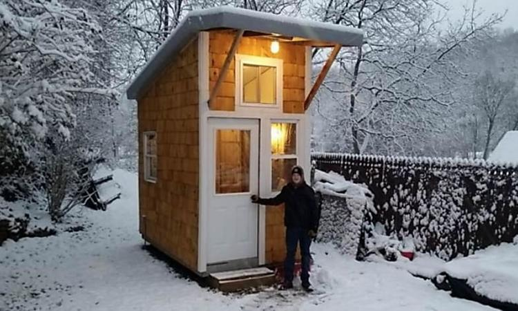 [Gallery] 13 Year Old Boy Built A House For Just $1500: Look When He Opens The Door And Reveals The Inside